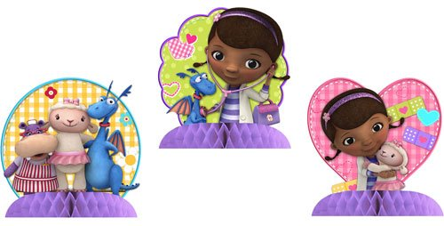 Doc McStuffins Centerpiece Decorations 3 Mini Centerpieces