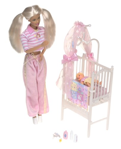 Barbie & Krissy - Bedtime Baby W/ Musical Crib (2000) back-779080