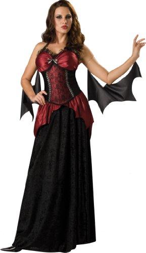Incharacter Costumes, Llc Vampiress 2B Adult Dress, Black/Burgundy, Small