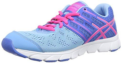 Asics Gel-Evation - Scarpe sportive - Donna - Blu (Soft Blue/Flash Pink/Powder Blue 4119), 8.5 UK / 42.5 EU