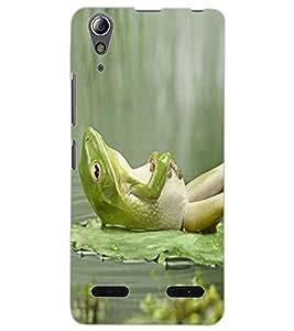ColourCraft Funny Frog Design Back Case Cover for LENOVO A6000 PLUS