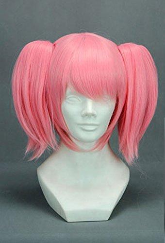 Parrucca rosa con piumini, cosplay Miku Vocaloïd Puella Magi Madoka Magica