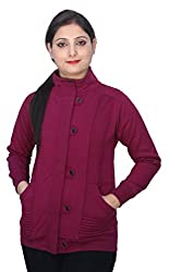 Romano Womens Beautiful Look Purple Winter Hoodie Sweatshirt Fleece Jacket