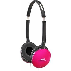 Jvc HA-S150P Flat Stereo Headphones - Pink