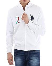 U.S.Polo.Assn. Men's Cotton Sweatshirt (8907259128573_USSS0481_XXL_White)