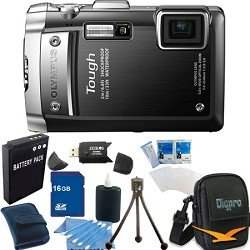 Olympus TG-810 14MP 5X Digital Camera Black w/