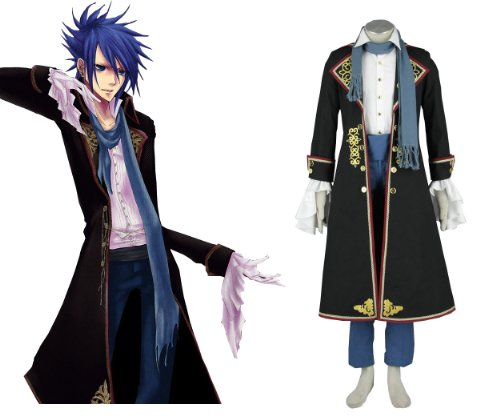 Japnese Anime Vocaloid the Sandplay Singing of the Dragon Kaito Cosplay Costume