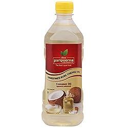 Paripoorna Wood Pressed Coconut Oil (மர செக�க� எண�ணெய�), 500 ML