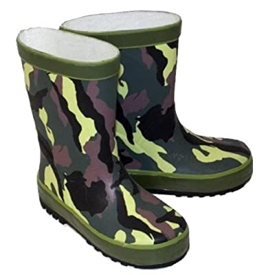 Kids Infant Child CAMOUFLAGE Funky wellies Wi10