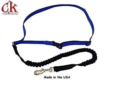 USA Made! Comfort Action Hands Free Running Leash-Jogging Leash-Walking Leash. A new concept in comfort for Dog Lovers on the move.