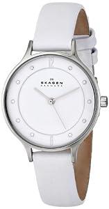 Skagen Women's SKW2145 Anita Quartz 3 Hand Stainless Steel White Watch