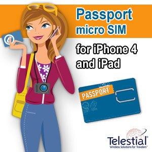 Telestial Passport Dual-IMSI micro-SIM for ipad & iphone4 with $10.00 Credit