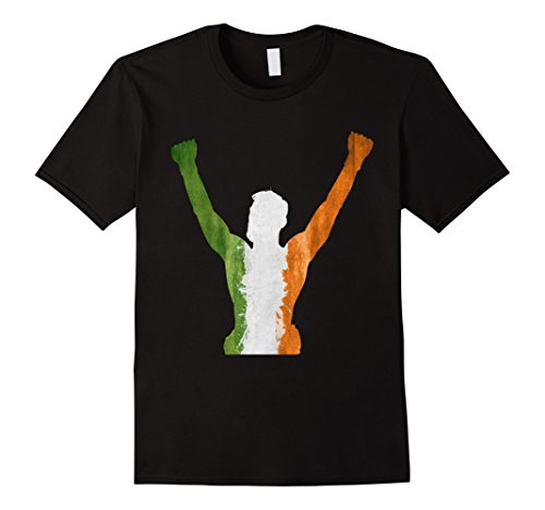 Mens-EmmaSaying-The-Champ-Shirt-Fighting-Champion-Irish-Flag-Tee-Black
