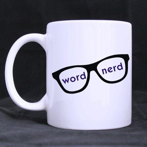 Word Nerd Ceramic Coffee Tea Mug White Mug-11 Ounces