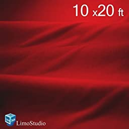 LimoStudio 10\' x 20\' Photography Studio Background Red Color Solid Muslin Photo Backdrop Seamless 100% Cotton Background, AGG214