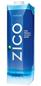 ZICO Pure Premium Coconut Water, Natural, 33.8 fl oz Container (Count of 6)
