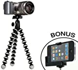 Joby GorillaPod Hybrid Flexible Tripod (Gray) for Compact System Cameras and for Action Cameras and a Bonus Universal Smartphone Tripod Mount Adapter works for iPhone 3g, 4, 4S, 5, HTC One, Galaxy S2, S3, S4, Blackberry Z10,Q10, Motorola Droid and Most Smartphones