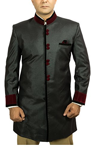 Black-Thread-Mens-Polyester-Sherwani