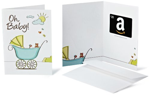 Amazon.Com Gift Card With Greeting Card - $20 (New Baby Design) front-1075391