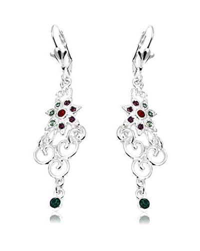 Sevil Swarovski Crystal Filigree Floral Drop Earrings