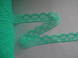 10 yards / 2.5 cm wide green heart-shaped lace ribbon lace embroidery lace DIY craft