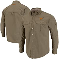 Texas Longhorns Redwood Long Sleeve Button Shirt by Chiliwear LLC