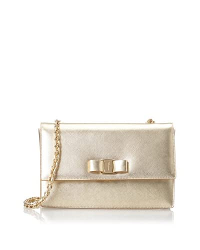 Salvatore Ferragamo Women's Textured Crossbody, Gold As You See