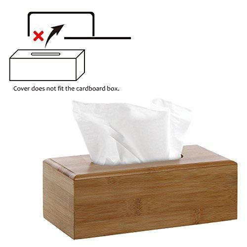 Decorative Beige Bamboo Facial Tissue Cover / Refillable Wooden Kitchen Napkin Holder & Dispenser (Tissue Dispenser compare prices)