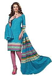 HIFI Ethnicwear Women's Dress Material(HIFI 3010_Turquoise_Free Size)
