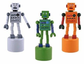 41J3ZrQ8AhL Cheap  Robot Finger Push Puppets Classic Wooden Toy