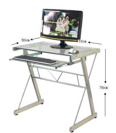 Mesa de ordenador mesa pc dise o moderno metal y cristal for Mesa ordenador amazon