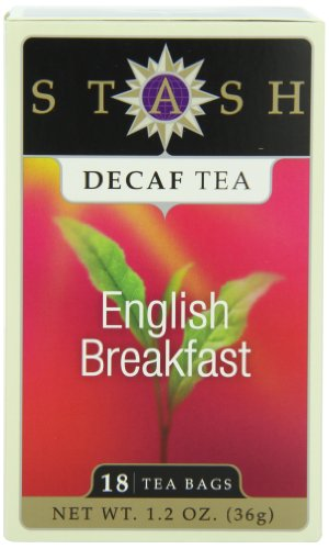 Stash Tea Decaf English Breakfast Tea, 18 Count Tea Bags In Foil (Pack Of 6)