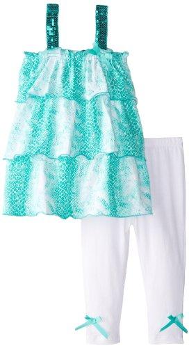 A.B.S. By Allen Schwartz Baby-Girls Infant Chloe Set, Turquoise, 18 Months front-729772