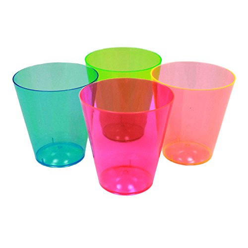 Enimay 2 oz. Shot Glass Neon Assortment Party Supplies 40 Pack - 1