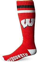 NCAA Wisconsin Badgers Tube Socks, Red