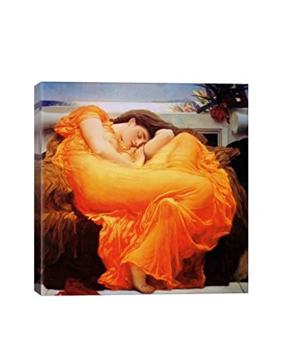 Frederick Leighton Flaming June Gallery Wrapped Canvas Print