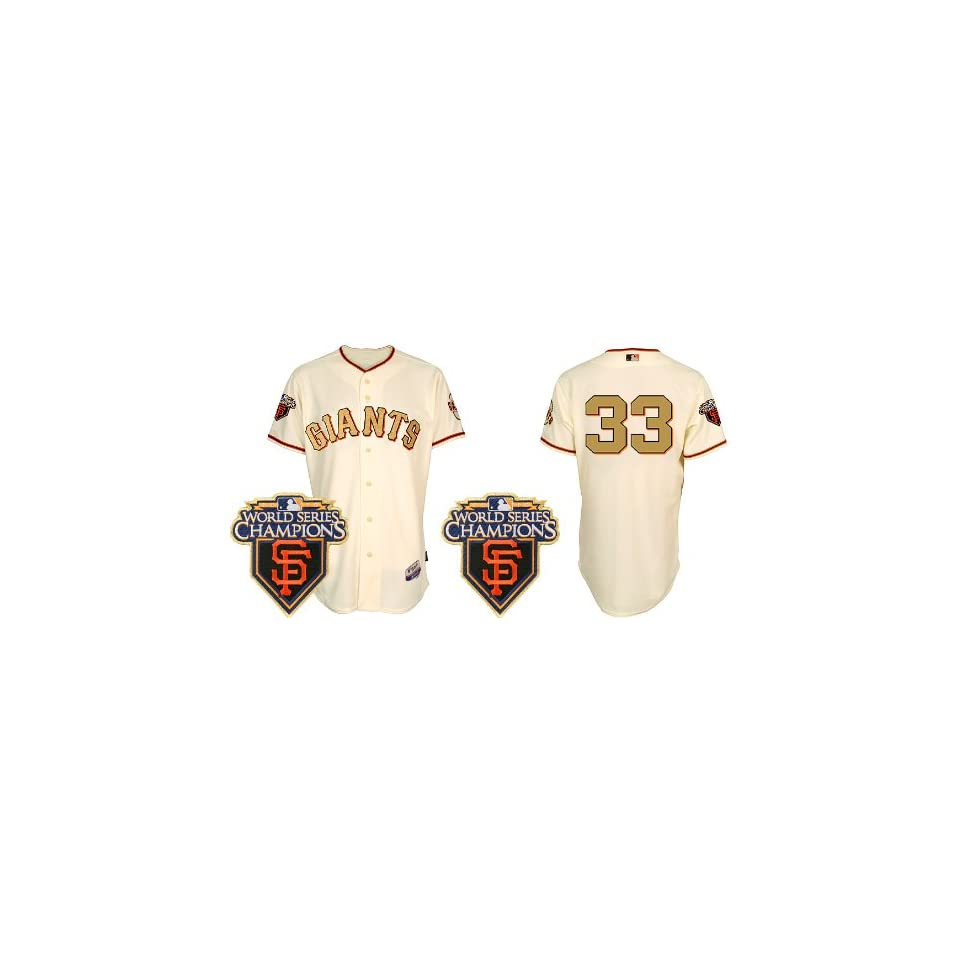 Wholesale   2011 new patch San Francisco Giants Jerseys #33 Aaron Rowand Cream Gold Letter Ring Ceremony Baseball Jerseys size 44 56 Drop Shipping