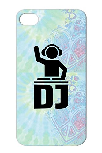 Dj Turntables Music Disco Vinyl Club Dance Electronica Deejay Headphones Party Equalizer Anti-Drop Black Protective Case For Iphone 4/4S
