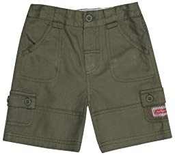 JoJo Maman Bebe Twill Shorts (Baby)-Khaki-12-18 Months
