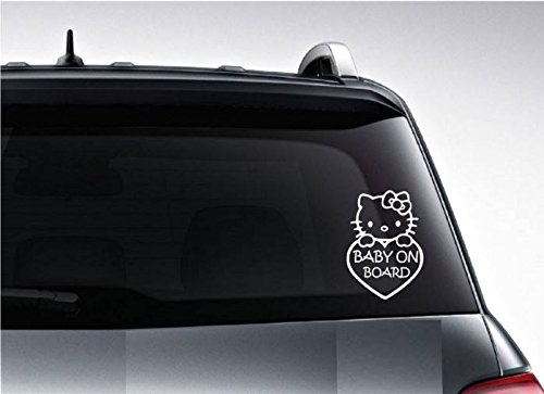 Hello-Kitty-Baby-On-Board-Sticker-Vinyl-Decal-for-Car-Bumper