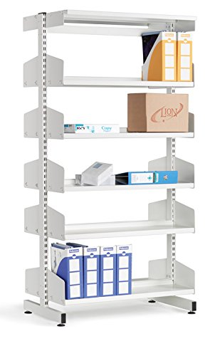 School Library Double Sided Shelving 10 Shelves 1800Hx900Wx250D White