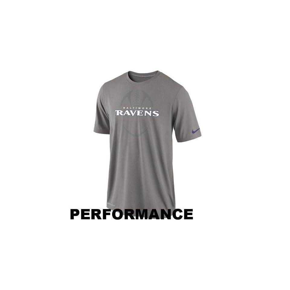 Nike Baltimore Ravens DriFIT Legend Football Icon Performance TShirt Ash  Sports Fan T Shirts  Sports & Outdoors