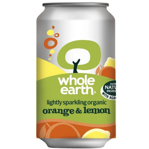 Whole Earth Organic Lightly Sparkling Orange and Lemon Drink 330 ml (Pack of 24)