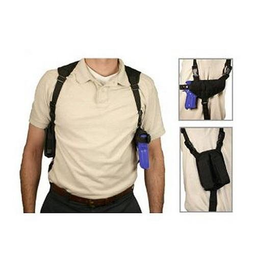 VISM by NcStar Ambidextrous Horizontal Shoulder Holster with Double Magazine Holder, Black (CV2909) (Fishing Shoulder Harness compare prices)