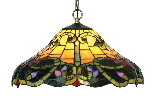 Oaks Lighting Soren Tiffany Pendant, 16-inch
