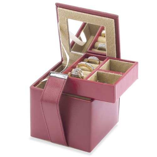 Mini Square Leather Jewelry Box