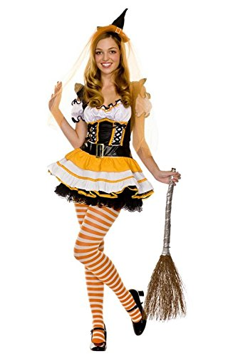 GALHAM - New Arrival Best Puff Sleeve Cute Adult Witches Candy Corn Costume