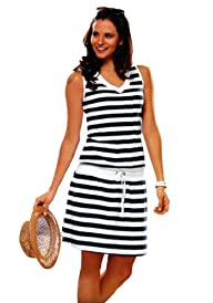 Euro Design Ladies Casual Cotton Summer Beach Cover-up Sun Dress