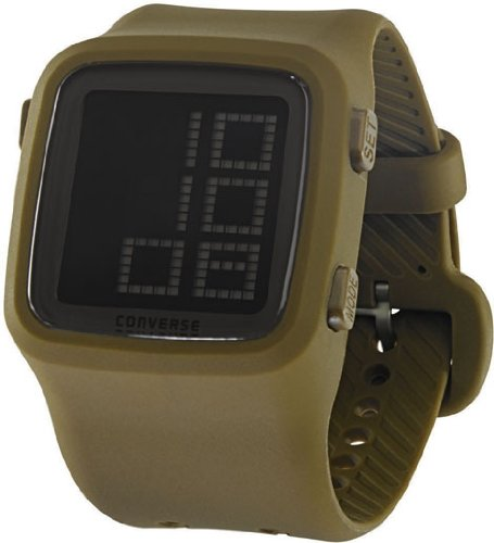 Converse Unisex VR002305 Scoreboard Icon Olive Green Digital Watch