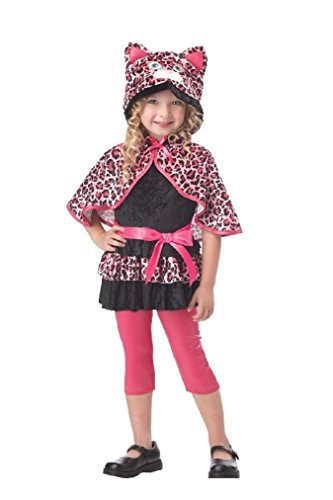 Fancy Cutesy Kitty Leopard Pinkalicious Toddler Costume (Girls And Toddler Cutesy Clown Costume)